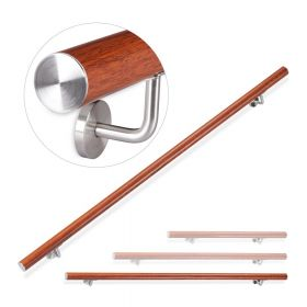 Corrimano in alluminio looksimil-legno di quercia - 200 cm - Per esterni ed interni