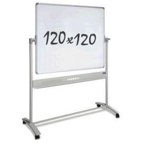 verrijdbaar whiteboard 120 x 120 cm