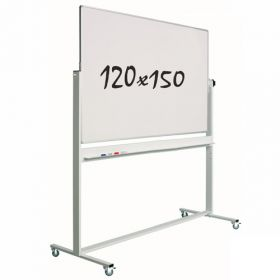 Lavagna bianca magnetica 120x150cm - Doppia superficie - Suporto mobile