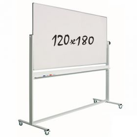 Lavagna bianca magnetica 120x180cm - Doppia superficie - Suporto mobile