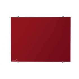 Lavagna in vetro magnetica 90x120 cm -Rossa