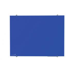 Lavagna in vetro magnetica 100x150 cm -Blu