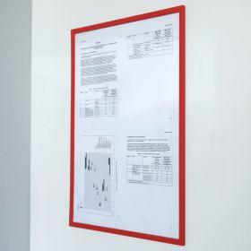 Portadocumenti magnetico PRO - A4 - Rosso - Per pezzo