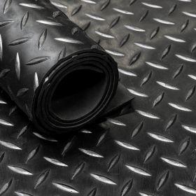 Gomma in  rotolo - Motivo a diamante - 3 mm - Largo 150 cm