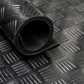 Gomma in rotolo - Motivo mandorlato - 3mm - Largo 140 cm