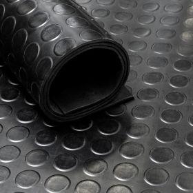 Stuoia/tappetino di gomma su rotolo-motivo a cerchi- 3 mm- Largo 120 cm
