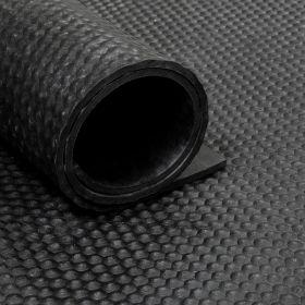 Gomma in rotolo - motivo martellato - 6 mm - Largo 180 cm