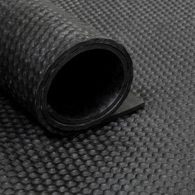 Rubber loper / rubbermat op rol van 16,5 m2 hamerslag 6 mm
