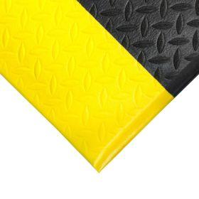 Tappetino ergonomico in rotolo - Anti-fatica - Con bordatura gialla e motivo a diamante  - Largo 120 cm
