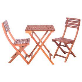 SenS-Line St. Tropez set tavolo e sedie da giardino - Legno d' acacia - Marrone