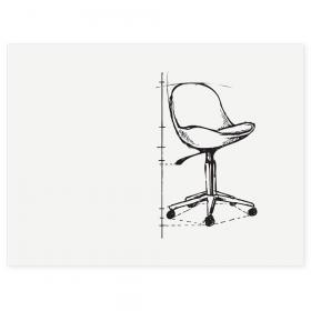 Lavagna bianca senza cornice BOARD-UP  75x100 cm