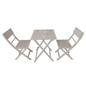 SenS-Line Mexico set tavolo e sedie da giardino - Legno d' acacia - Grigio