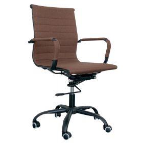 Sedia da ufficio Valencia - Black Steel Edition - Tessuto in color marrone
