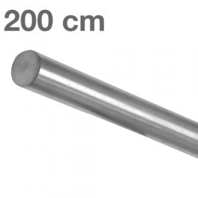 Corrimano in acciaio inox spazzolato - 200 cm