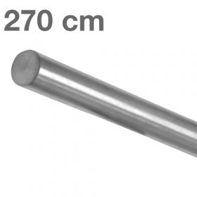 Corrimano in acciaio inox spazzolato - 270 cm