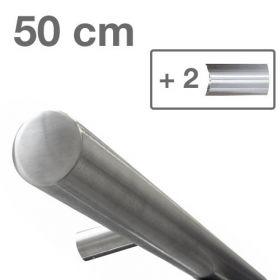 Corrimano di design in acciaio INOX - Spazzolato - 50 cm + 2 supporti