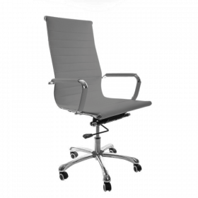 Sedia da ufficio Madrid – Pelle sintetica in PU - grigia