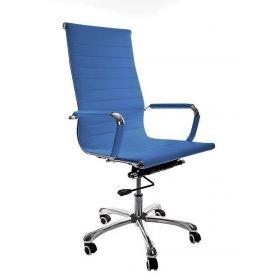 Sedia da ufficio Madrid – Pelle sintetica in PU - Blu