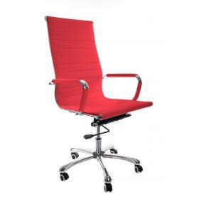 Sedia da ufficio Madrid – Pelle sintetica in PU - Rossa
