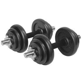 Dumbell / Bilanciere con pesi set regolabile - Con custodia  - 20 kg (2x 10 kg)