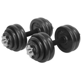Dumbell / Bilanciere con pesi set regolabile - Con custodia  - 30 kg (2x 15 kg)