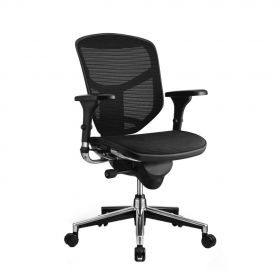 Sedia da ufficio ergonomica COMFORT – EnjoyClassic – (senzapoggia testa) - Nera