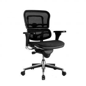 Sedia da ufficio ergonomica COMFORT – Ergohuman Classic – (senzapoggia testa) - Nera