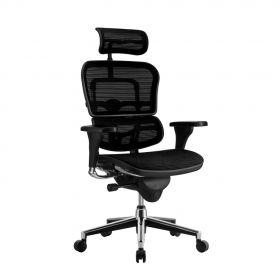 Sedia da ufficio ergonomica COMFORT – Ergohuman Classic – (con poggia testa) - Nera