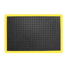 Tappetino antiscivolo ergonomico - Anti-fatica-Con bordatura gialla- 90x120 cm