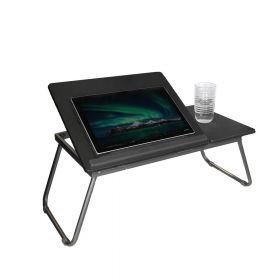 Tavolino da letto/ divano per laptop regolabile- Grigio scuro