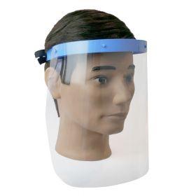 Visiera con 2 schermi in PVC - Supporto in plastica medica