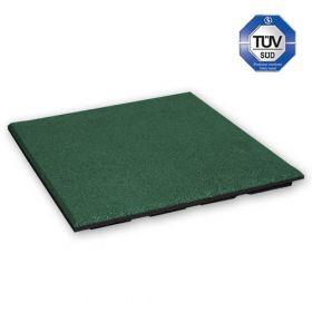 Mattonella in gomma antitrauma 30mm - 50 x 50 cm - Verde