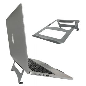 Supporto per laptop-Macbook stand- Metallo- Color argento