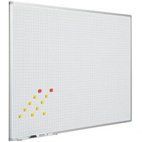 Lavagna bianca con griglia 5x5 - 100x200 cm