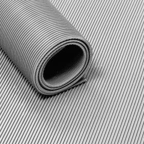 Stuoia /tappetino di gomma con motivo a coste  in rotolo -3 mm- Largo 120 cm-Inodore