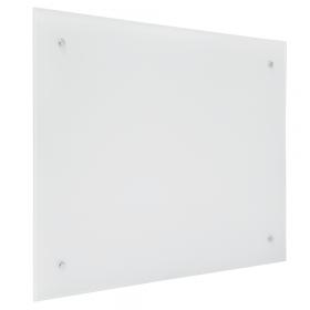 Lavagna in vetro magnetica 60x90 cm - bianca