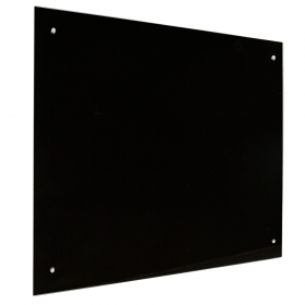 Lavagna in vetro magnetica 90x120 cm - nera