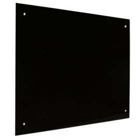 lavagna in vetro magnetica nera 45x60 cm
