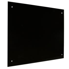 Lavagna in vetro magnetica 100x100 cm - nera