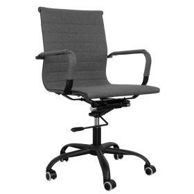 Sedia da ufficio Valencia - Black Steel Edition - Tessuto in color grigio
