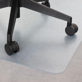 vloerbeschermer bureaustoelmat transparant 90x120 cm - voor harde vloeren en laminaat