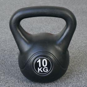 Kettlebell per interni ed esterni - Plastica - Nero - 10 kg