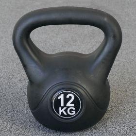 Kettlebell per interni ed esterni - Plastica - Nero - 12 kg