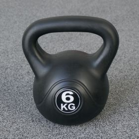 Kettlebell per interni ed esterni - Plastica - Nero - 6 kg