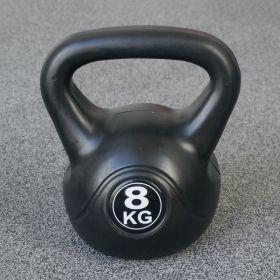 Kettlebell per interni ed esterni - Plastica - Nero - 8 kg