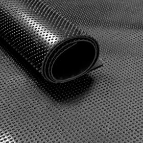 Stuoia/tappetino di gomma su rotolo-motivo a bollicine- 3 mm- Largo 120 cm