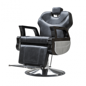 Poltrona da barbiere - Vero stile retro - Nera