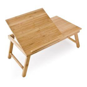 tavolino pieghevole per laptop in bamboe