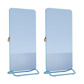 Chameleon Mobile 1/3 bacheca 2/3 lavagna bianca doppia 89 x 192 cm – Blu