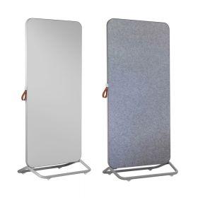 Chameleon Mobile dubbelzijdig whiteboard/prikbord 89 x 192 cm - Grijs